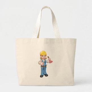Bolsa Tote Grande Canalizador fêmea dos desenhos animados que