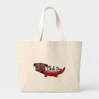 Bolsa Tote Grande Cão de pimentão