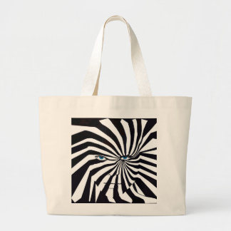 Bolsa Tote Grande Cara da zebra na sacola preto e branco