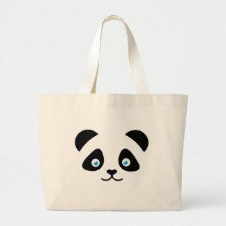 Bolsa Tote Grande cara do urso de panda