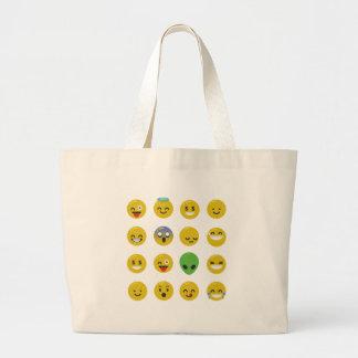 Bolsa Tote Grande Cara feliz de Emoji