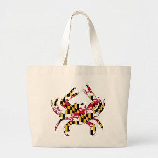 Bolsa Tote Grande Caranguejo ondulado da bandeira de Maryland