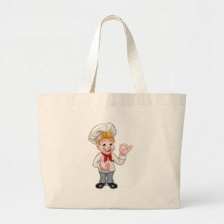 Bolsa Tote Grande Caráter do cozinheiro chefe ou do padeiro dos