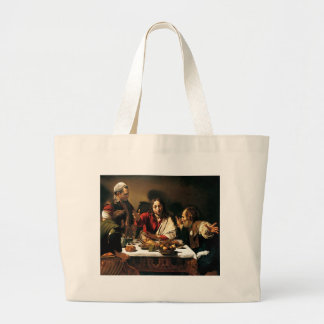 Bolsa Tote Grande Caravaggio - ceia em Emmaus - pintura clássica