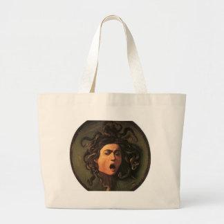 Bolsa Tote Grande Caravaggio - Medusa - trabalhos de arte italianos