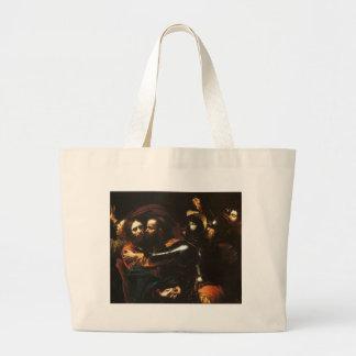 Bolsa Tote Grande Caravaggio - tomada do cristo - trabalhos de arte