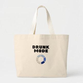Bolsa Tote Grande carga bêbeda do modo, presente engraçado do design