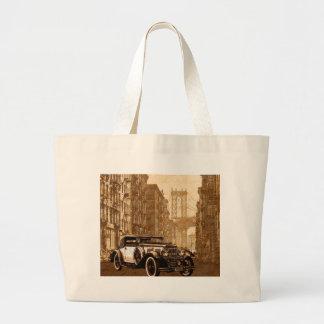 Bolsa Tote Grande Carro velho do vintage