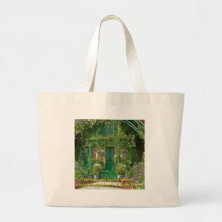Bolsa Tote Grande Cartões & camisetas de presentes da casa & das cit