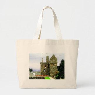 Bolsa Tote Grande Castelo de Carsluith -- Clã Broun/Brown