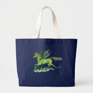Bolsa Tote Grande Cavalo voado Pegasus voado de Pegacorn do