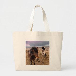 Bolsa Tote Grande Cavalos de Islândia