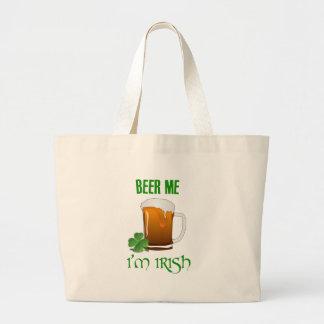 Bolsa Tote Grande Cerveja mim eu sou irlandês