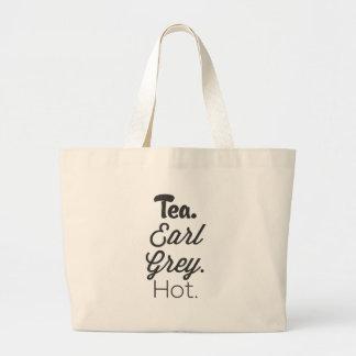 Bolsa Tote Grande Chá, cedo cinza, quente