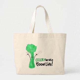 Bolsa Tote Grande Chalaça positiva do aipo - boa vida de Celerybrate