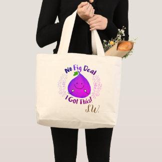 Bolsa Tote Grande Chalaça positiva do figo - nenhum negócio do figo