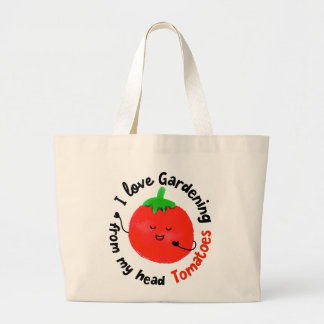 Bolsa Tote Grande Chalaça positiva do tomate - de meus tomates