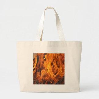 Bolsa Tote Grande Chamas - demasiado quentes a segurar