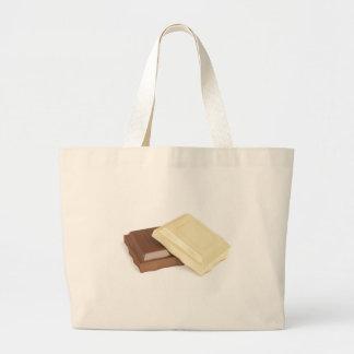 Bolsa Tote Grande Chocolate branco e marrom