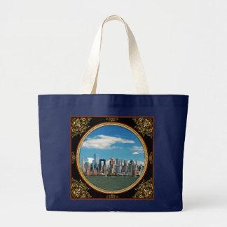 Bolsa Tote Grande Cidade - New York NY - a skyline de New York