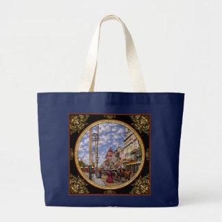 Bolsa Tote Grande Cidade - Nova Orleães a era 1887 do Victorian