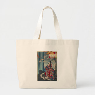 Bolsa Tote Grande Clássico legal da arte japonesa da senhora Japão