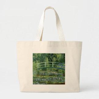 Bolsa Tote Grande Claude Monet - ponte japonesa