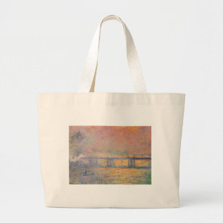 Bolsa Tote Grande Claude Monet - Saint Louis da ponte transversal de