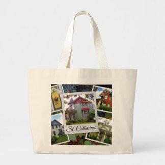 Bolsa Tote Grande Colagem da foto do St. Catharines