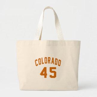 Bolsa Tote Grande Colorado 45 designs do aniversário