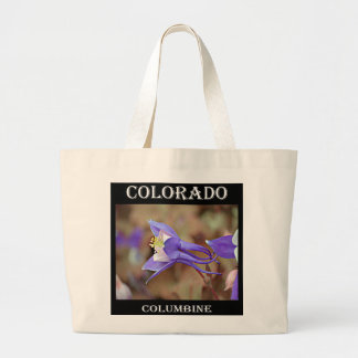 Bolsa Tote Grande Colorado aquilégia