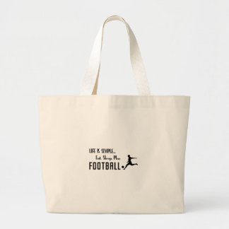 Bolsa Tote Grande coma o futebol do jogo do sono