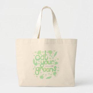 Bolsa Tote Grande coma seus verdes