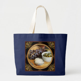 Bolsa Tote Grande Comida - fruta - pepino e uvas