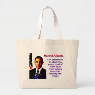 Bolsa Tote Grande Como o comandante-chefe - Barack Obama