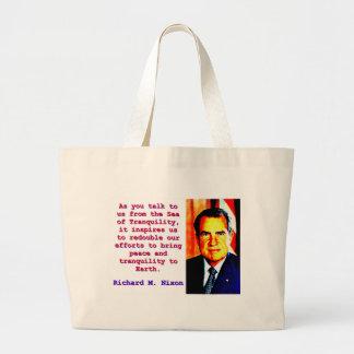 Bolsa Tote Grande Como você nos fala - Richard Nixon