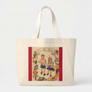 Bolsa Tote Grande comprar dos miúdos dos anos 60