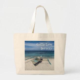Bolsa Tote Grande Conseguiu amar Boracay