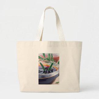 Bolsa Tote Grande Copo de vidro com molho e rosemary de soja