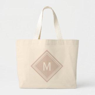 Bolsa Tote Grande Cora o monograma cor-de-rosa do diamante