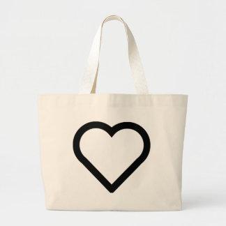 Bolsa Tote Grande Coração bonito