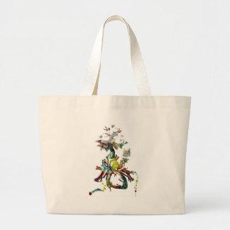 Bolsa Tote Grande Coração com os presentes abstratos das flores