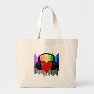 Bolsa Tote Grande Coração mordido - transparente