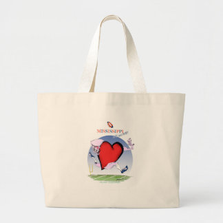 Bolsa Tote Grande coração principal de mississippi, fernandes tony
