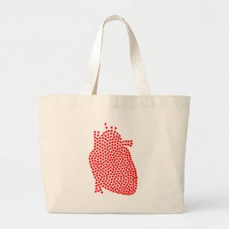 Bolsa Tote Grande Corações do coração
