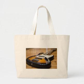 Bolsa Tote Grande Cordas baixas baixas do instrumento da guitarra