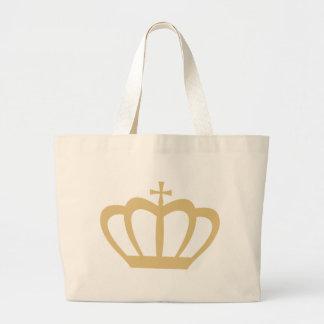 Bolsa Tote Grande Coroa do ouro
