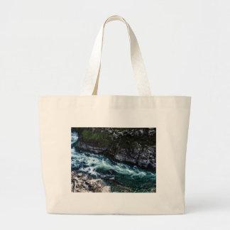 Bolsa Tote Grande córrego de águas esmeraldas
