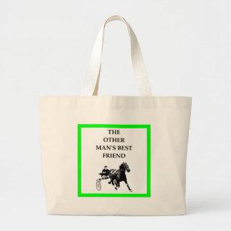 Bolsa Tote Grande corrida de cavalos