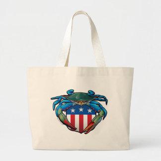 Bolsa Tote Grande Crista dos EUA do caranguejo azul
